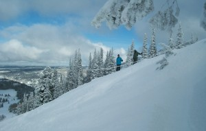 Snow skiing pictures - Skiing Grand Targhee