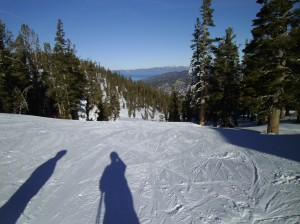 Near top of Stagecoach Lift at Heavenly.