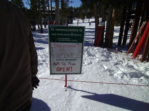 Stagecoach lift at Heavenly is open for the year.