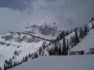 Weather is always a challenge when Jackson Hole skiing.
