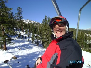 Smiling Bro on opening day at Kirkwood.