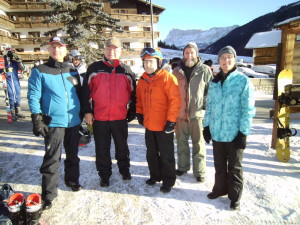 Heading out to the Pralongia Ski area for the day.