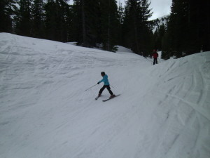 Another great day enjoying Sierra Nevada skiing.