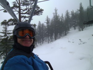Heavenly in the rain will never stop us from skiing.